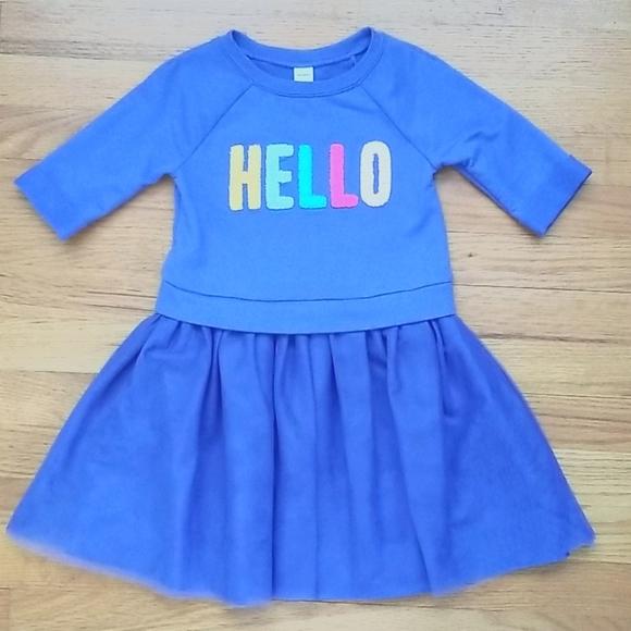 HELLO Sweater Dress 4T
